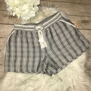 Anthro | Elevenses Pull On Striped Shorts